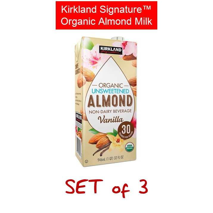 Kirkland Unsweetened Vanilla Almond Milk Nutrition Facts ...