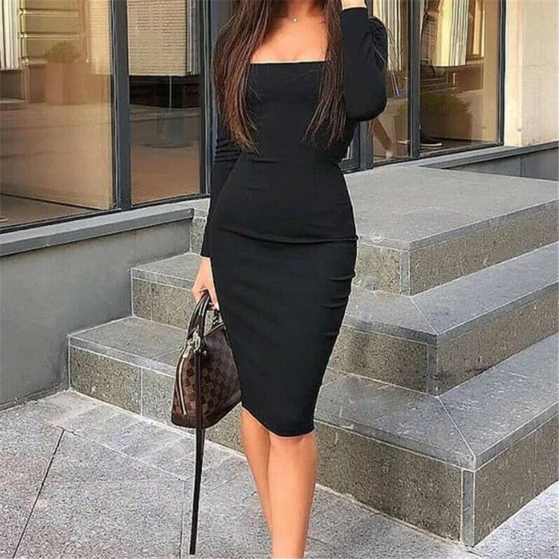 Women Dress Womens Elegant Fashion Sexy Black Blue Red Cocktail Party Slim Fit Dresses Square Collar Long Sleeve Design Bodycon Midi Dress Shopee Philippines Also set sale alerts and shop exclusive offers only on shopstyle. women dress womens elegant fashion sexy black blue red cocktail party slim fit dresses square collar long sleeve design bodycon midi dress