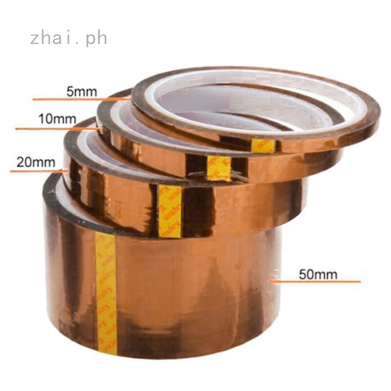 10pcs 13mm x 33M 100ft Kapton Tape BGA High Temperature Heat Resistant Polyimide