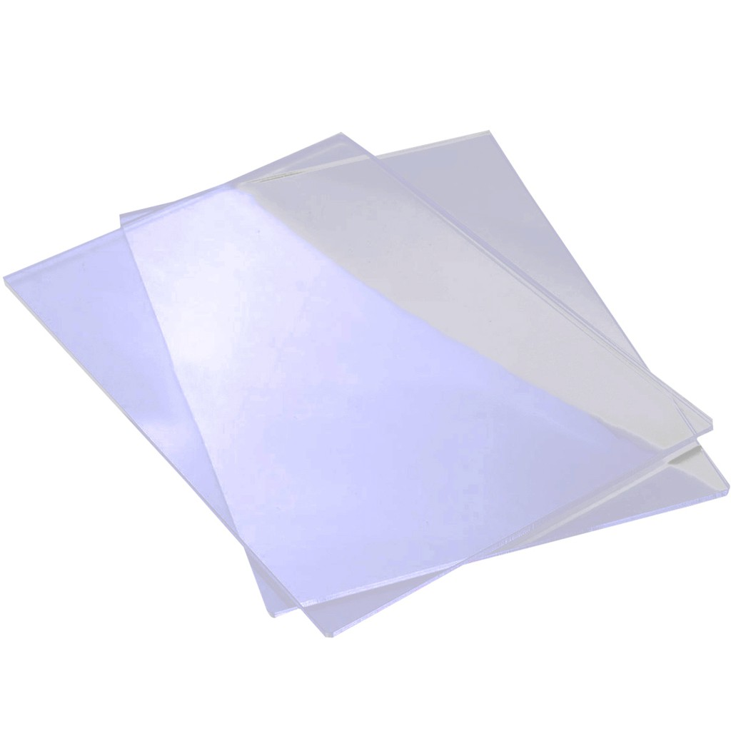 ✿tocawe 2pcs New 155mm*225mm*3mm Generic Acrylic Transparent Cutting Plates  For Big Shot