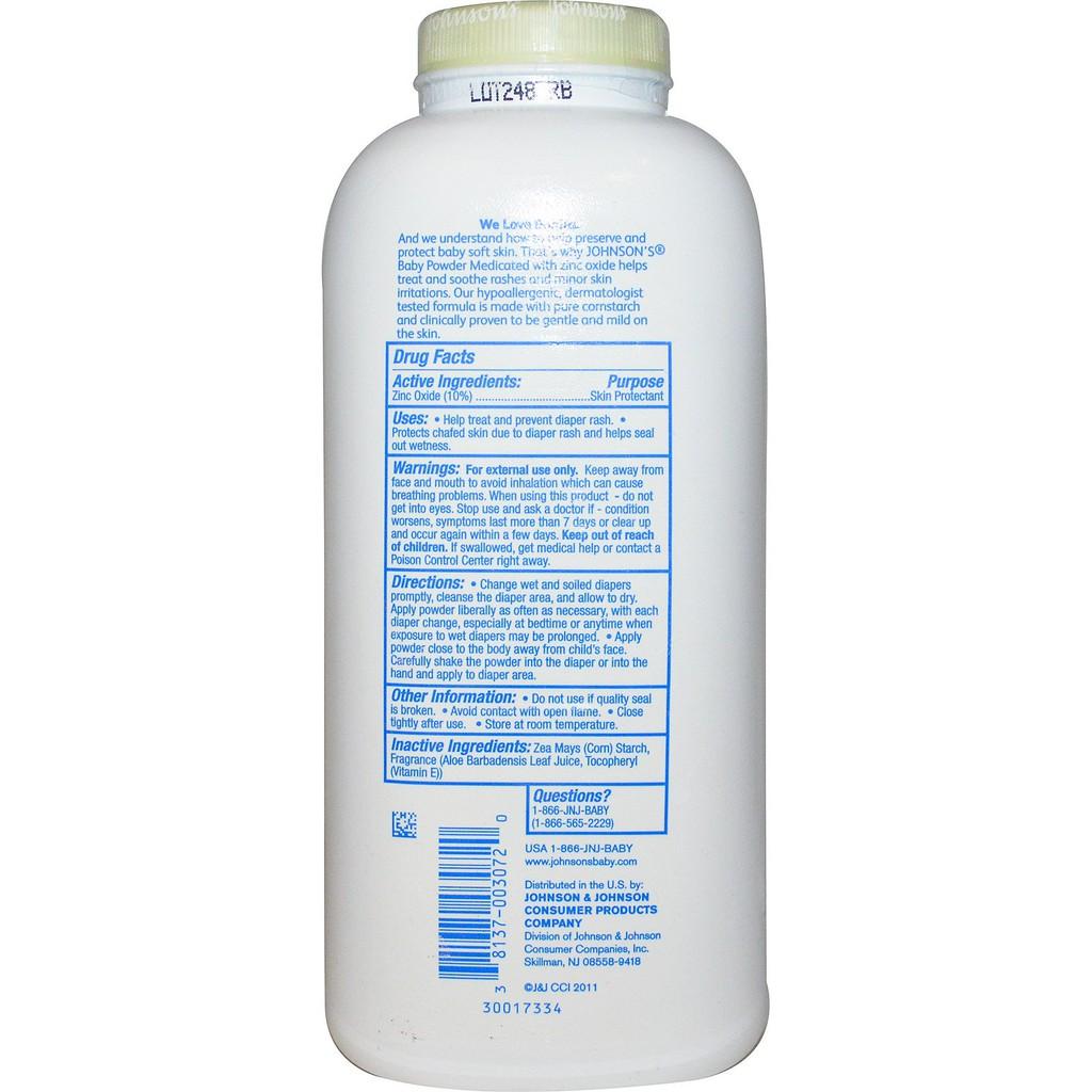 Johnson's, Baby Powder, Medicated, 15 oz (425 g)