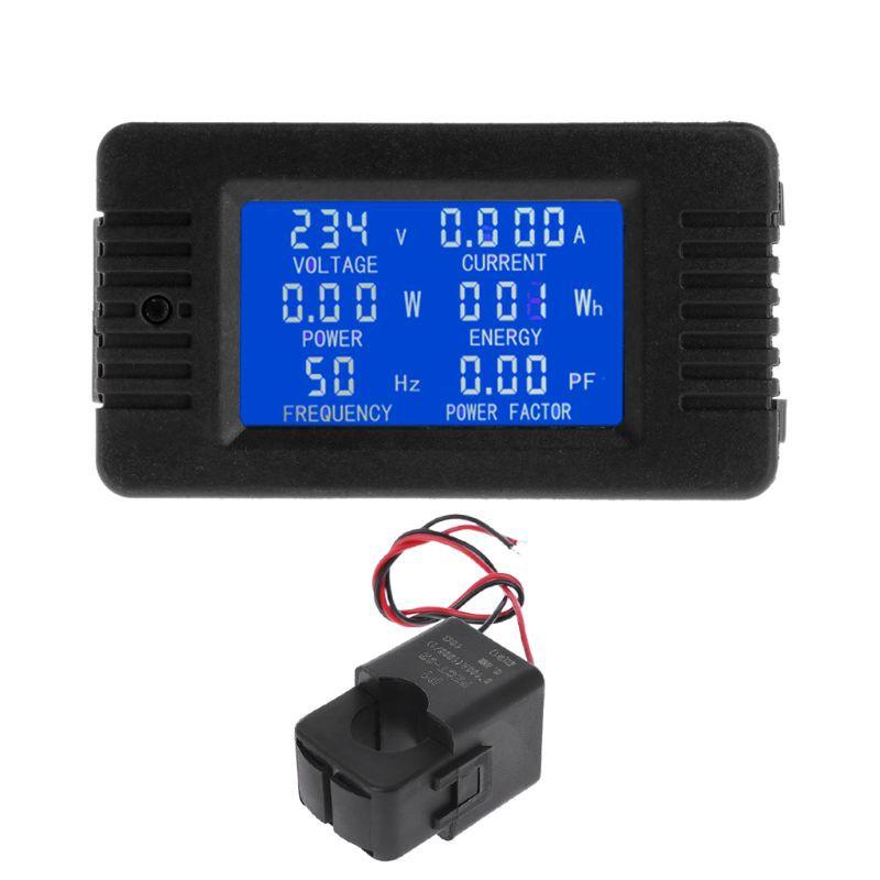 AC110V 120V 220V 100A Digital Voltmeter Ammeter Volt Amp Power Kwh Watt Combo