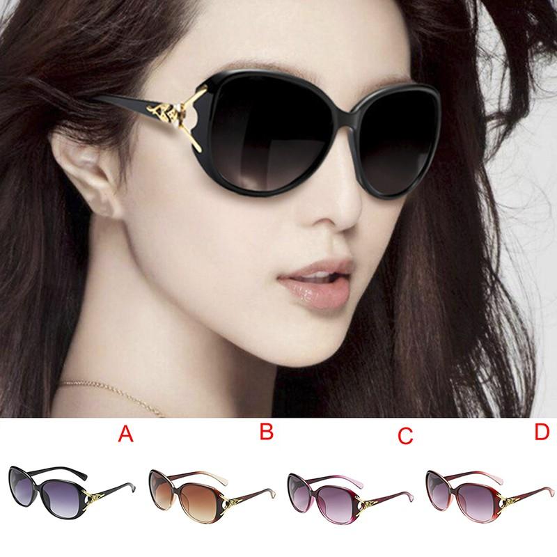 Women Oversized Sunglasses UV400 Huge Shades Outdoor Retro Round Eyewear 0U