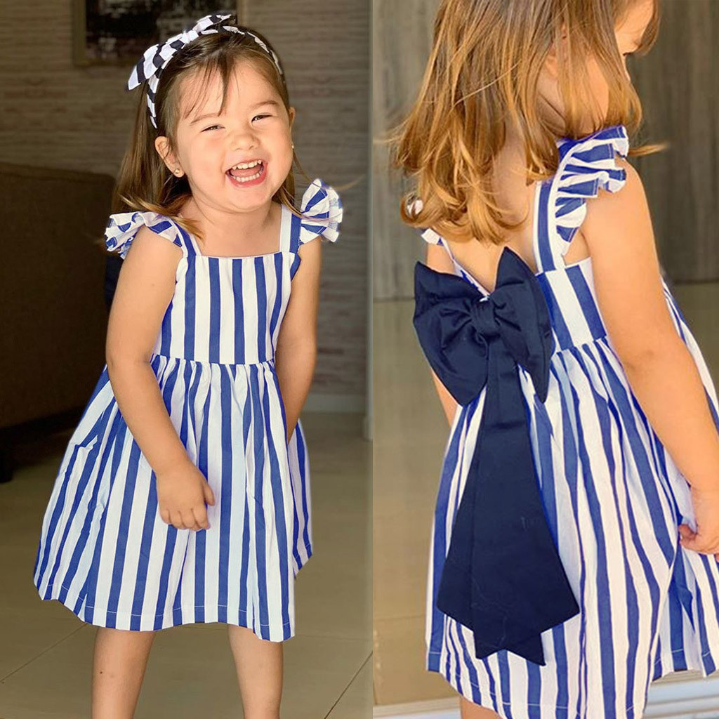 Toddler Kid Baby Girl Sleeveless Fruit Lemon Botany Print Princess Dress Clothes