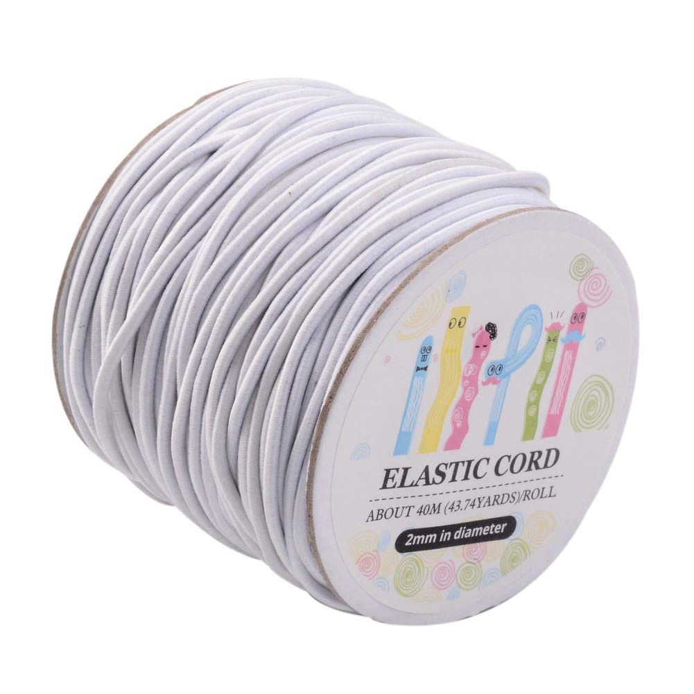 1roll Round 1mm Elastic Beads Cord Nylon Outside/&Rubber Inside Black 100m//roll
