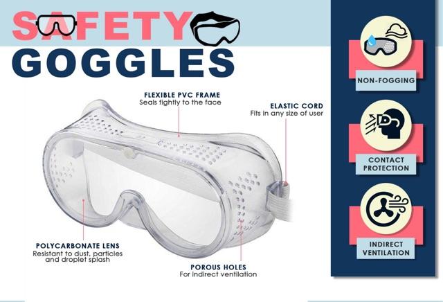 Medical Safety Glasses Anti-Fog Goggles Adjustable Surgical Eyewear Protector