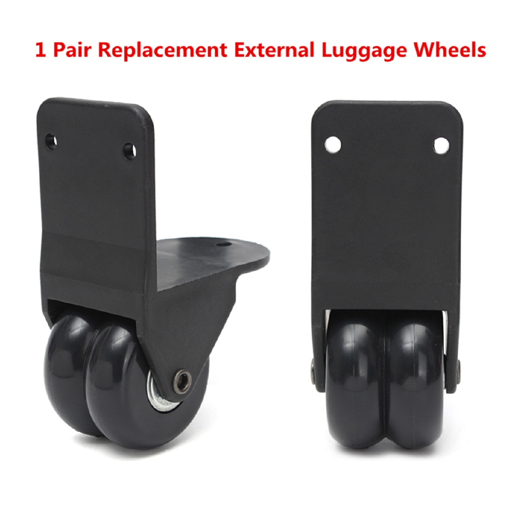 18ae2445c6b0 1 Pair Travel Bag Luggage Replacement External Wheel Trolley