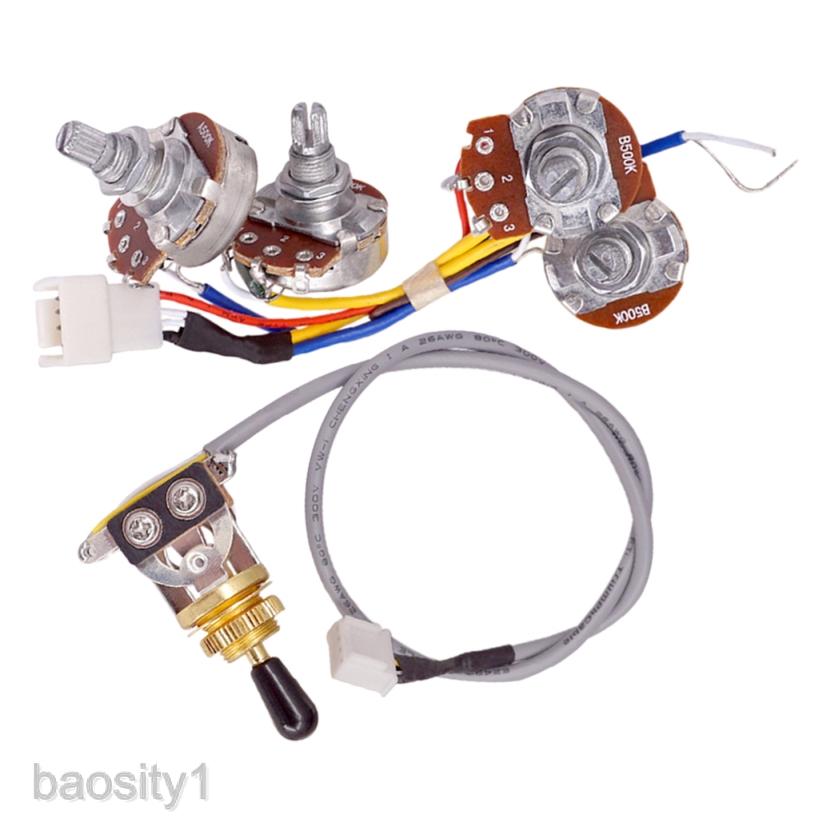 3 Way Toggle Switch W A500k B500k Pot Potentiometer Prewired Wire Harness Shopee Philippines
