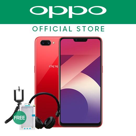 OPPO A3s 3GB w/ Headset, Tripod & Rockspace Case