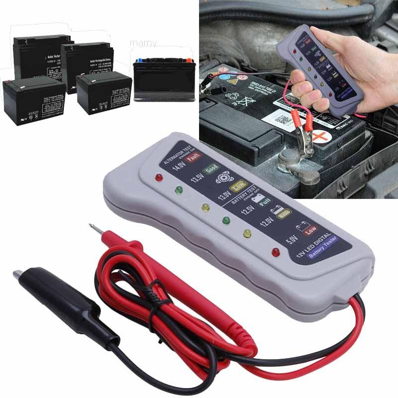 ✨mamy✨12V Digital Battery Alternator Tester 6 LED