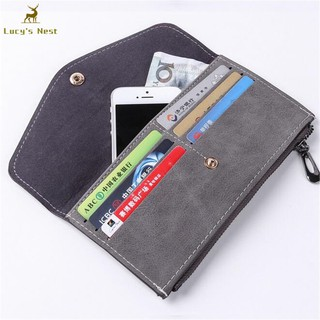 LK/_ Men Vintage Faux Leather Short Wallet Casual Thin Card Holder Purse Gift C