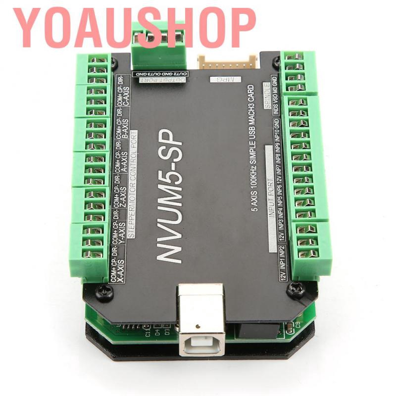 USB MACH3 Interface Board 5-Axis Controller CNC 100KHz f// Stepper Motor NVUM5-SP