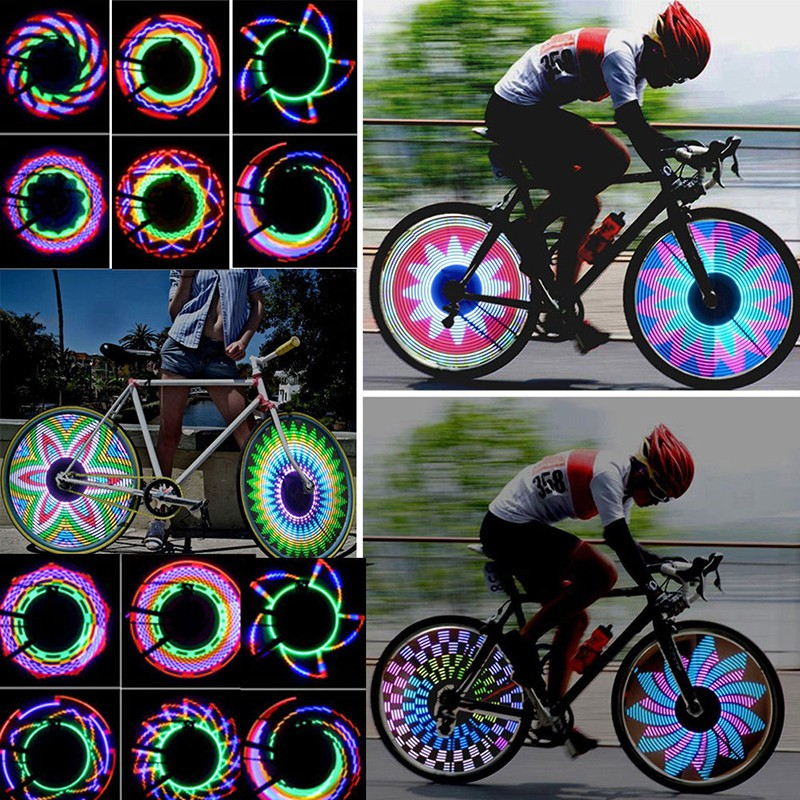 22 LED Bike Motorcycle Cycle Wheel Signal Tire Spoke Light 30 Flashing Lamp 2019