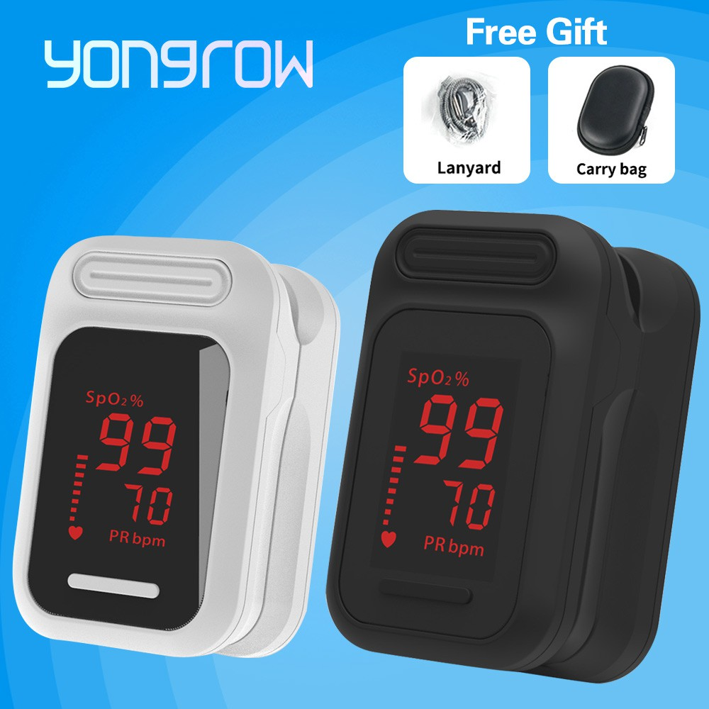 Yongrow Finger Pulse Oximeter Blood Oxygen Saturation health fingertip