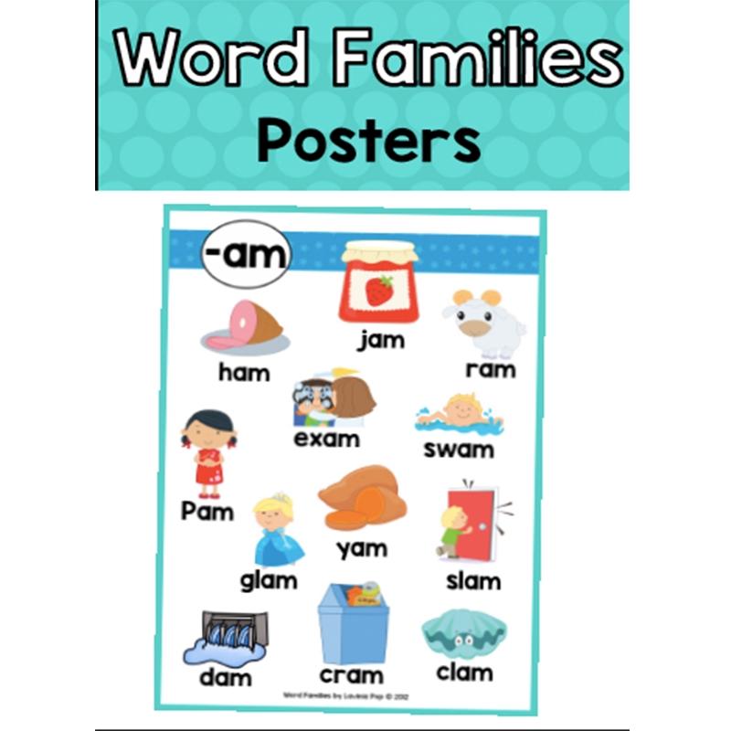 24Pcs English Vowel Combination Card Poster Kid Teaching Aid