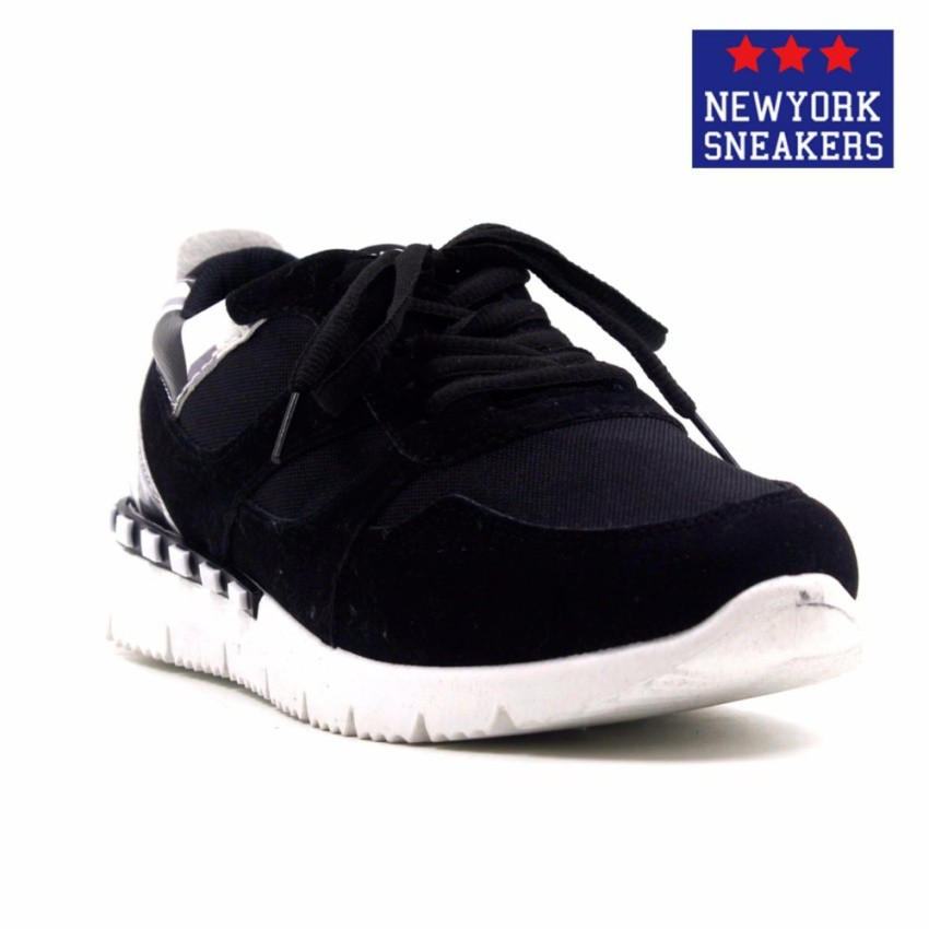 184d27857 New York Sneakers Matty Rubber Shoes(BLACK WHITE)