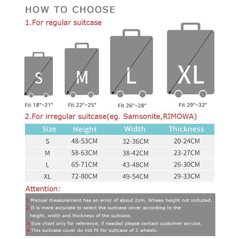 Lidu Elastic Waterproof Dustproof Travel Suitcase Protective Cover Trolley Baggage 18 32 Inch Luggage Shopee Philippines