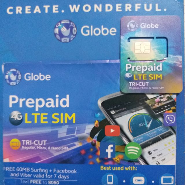 GLOBE LTE TRICUT VANITY SIMCARDS SPECIAL NUMBERS ( Lucky Seven )