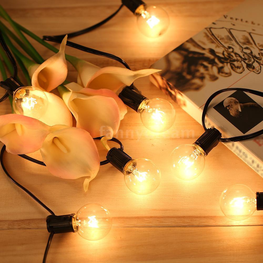 Tomshine G40 Globe Tungsten Incandescent Bulb Lamp 25 Pack E12 Base Socket
