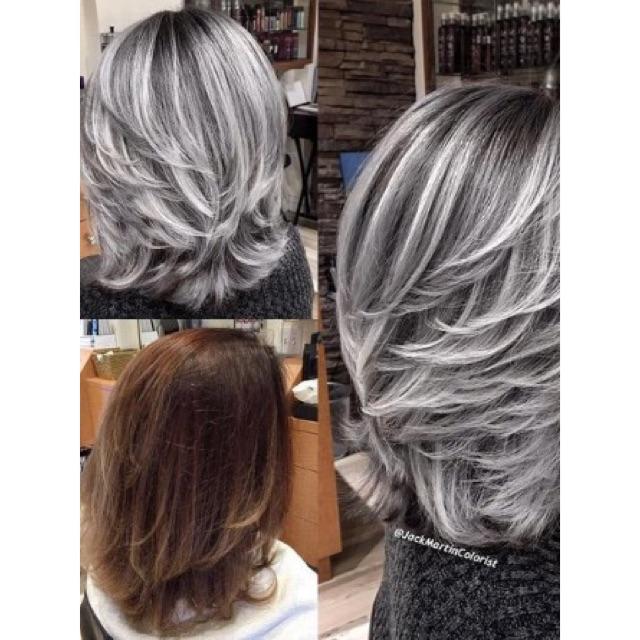 Ash Gray Hair Color Dye