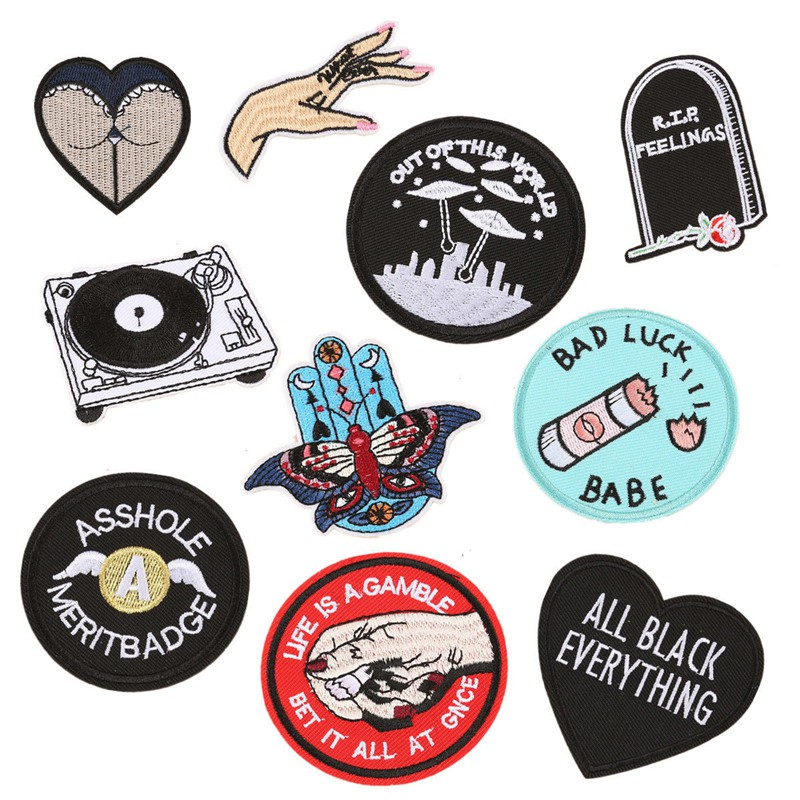 Round Fish Decoration Embroidery Applique Patch Sew Iron Badge Iron On