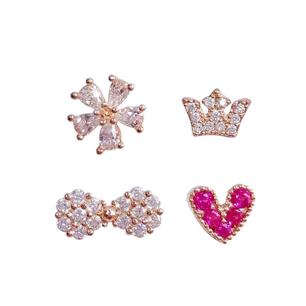 Fashion Wome Rhinestone Crystal Star Ear Clip Cuff Earring Cartilage Jewelr S3S4
