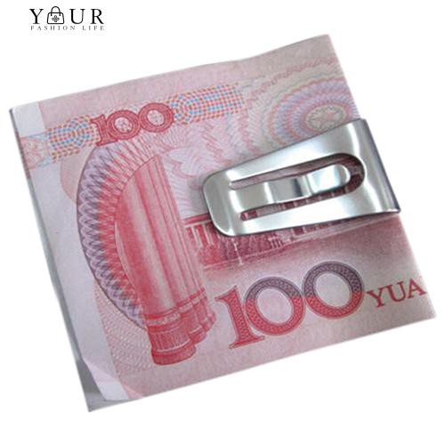 5050ddb4505 Bags (COD) Stainless Steel Slim Pocket Cash Purse Money Clip Wallet ID Credit  Card Holder