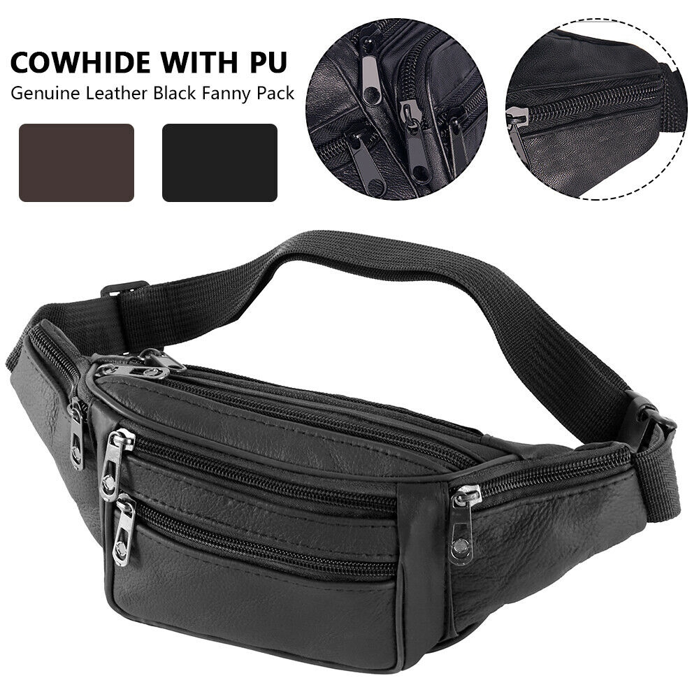 Waterproof Waist Packs Canvas Fanny Pack Utility Hip BumBag for Travelling