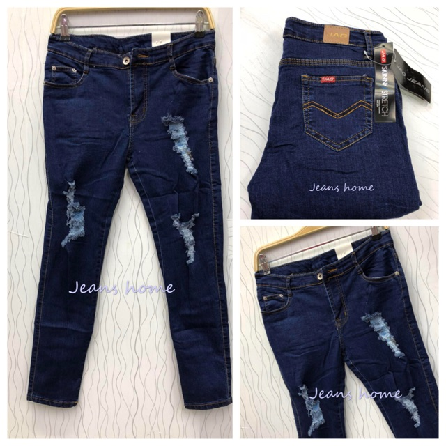 3979ed1c97 ProductImage. ProductImage. Plus size Tattered strechable skinny jeans