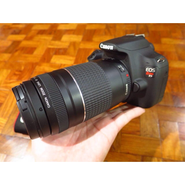 Canon Rebel T5 1200d With 75 300mm Zoom Lens
