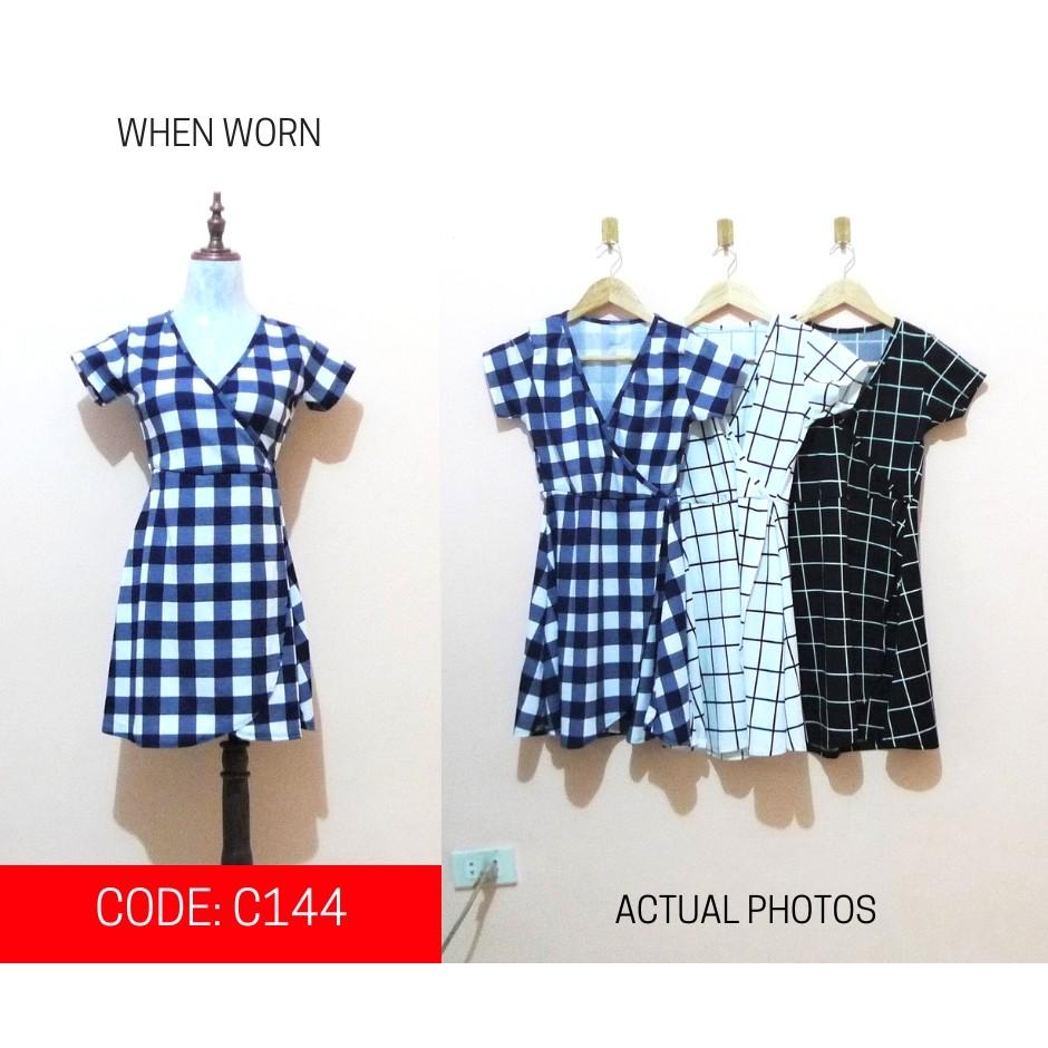 3 PCS  ASSORTED Printed Square Wrap Up Dress (C144)