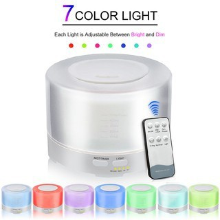 500ml 7 LED Humidifier Air Atomizer Aroma Essential Oil Diffuser Aromatherapy 3c