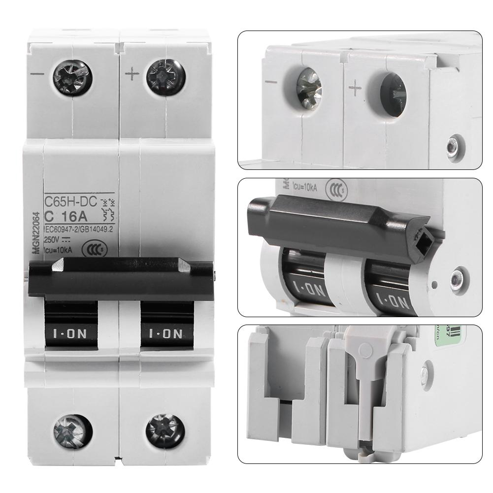 250V DC 2P Low-voltage Miniature Air Circuit Breaker Solar Energy Switch 63A Hot