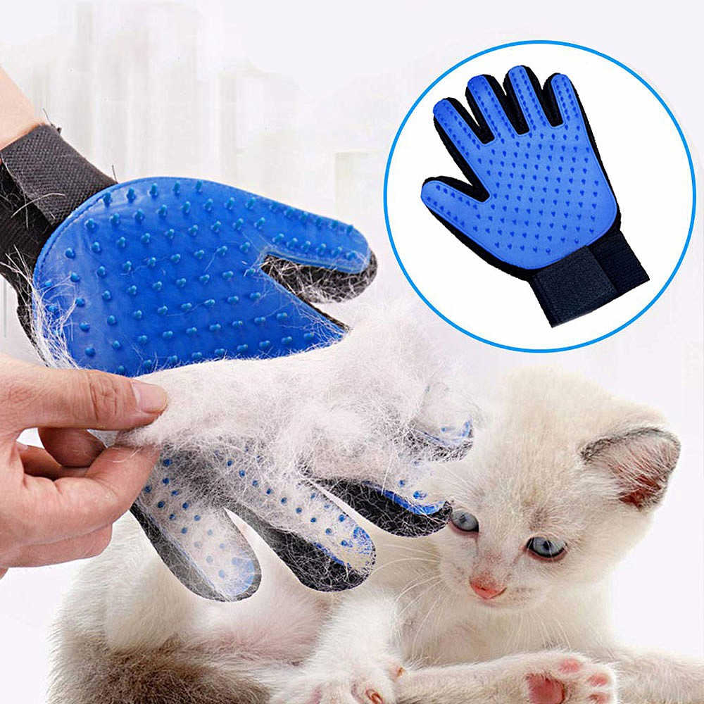 Dog Pet Grooming Glove Silicone Cats Brush Comb Deshedding Hair Gloves Dogs  Bath Cleaning Supplies Animal Combs | Shopee Philippines