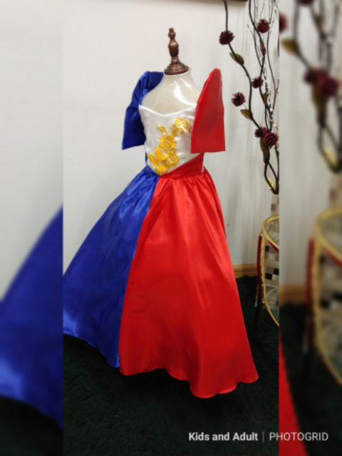 Filipiniana Gown For Kids Shopee Philippines
