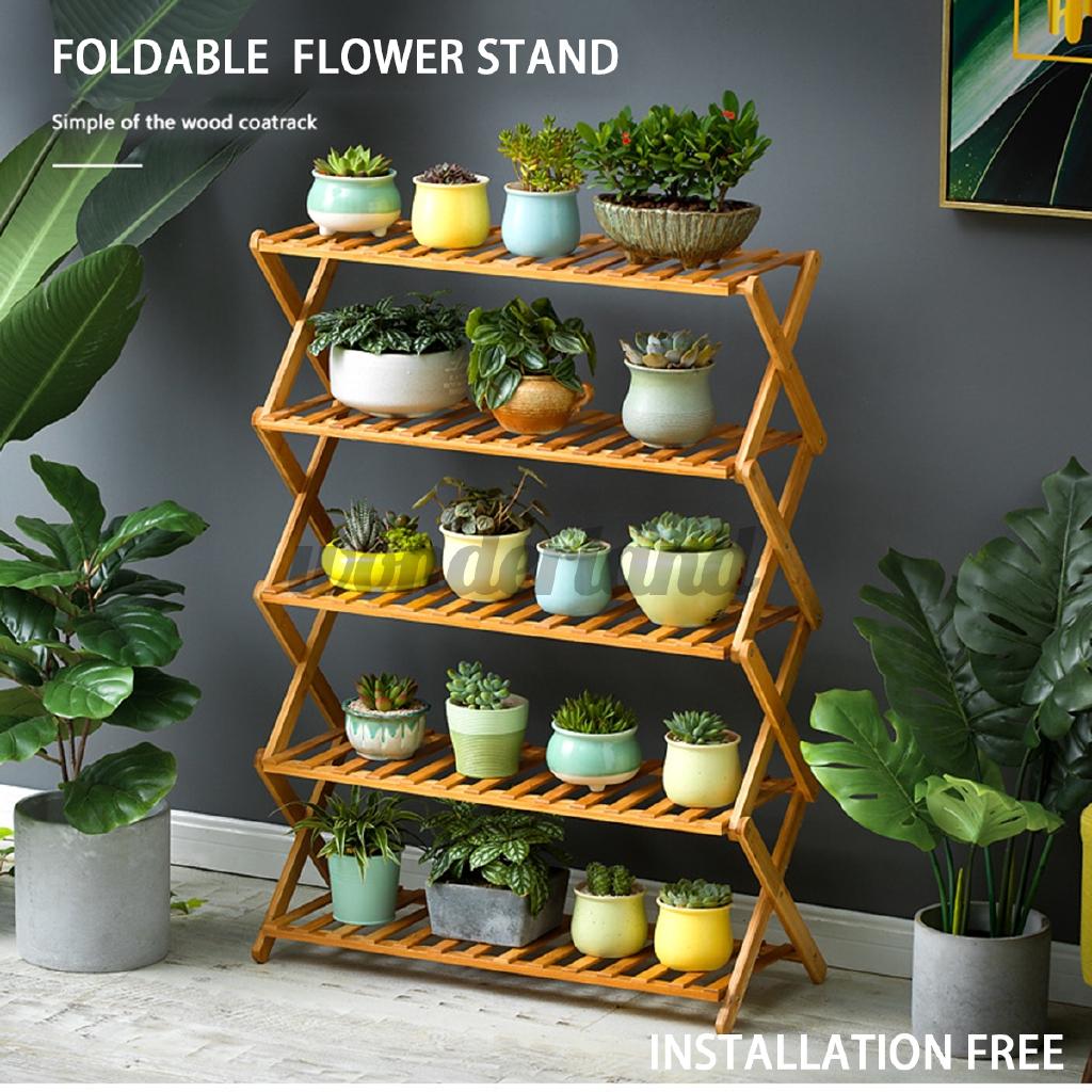 Pot Plant Stand Shelves Flower Rack Display Shelf Garden Indoor Outdoor Patio Shopee Philippines