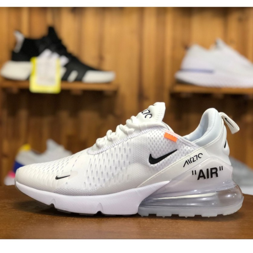 sale retailer 84363 198ab Nike AIR MAX 270 FLYKNIT Running Shoes For Women All White