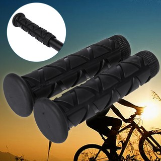 Vintage Bicycle Bike Grips Black 22.2mm Anti-Slip Flat Bar Rubber