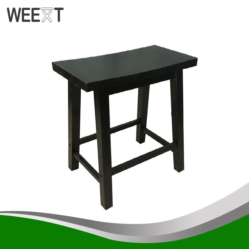 Terrific Weext Wooden Saddle Stool 18 Inch Height Black Machost Co Dining Chair Design Ideas Machostcouk