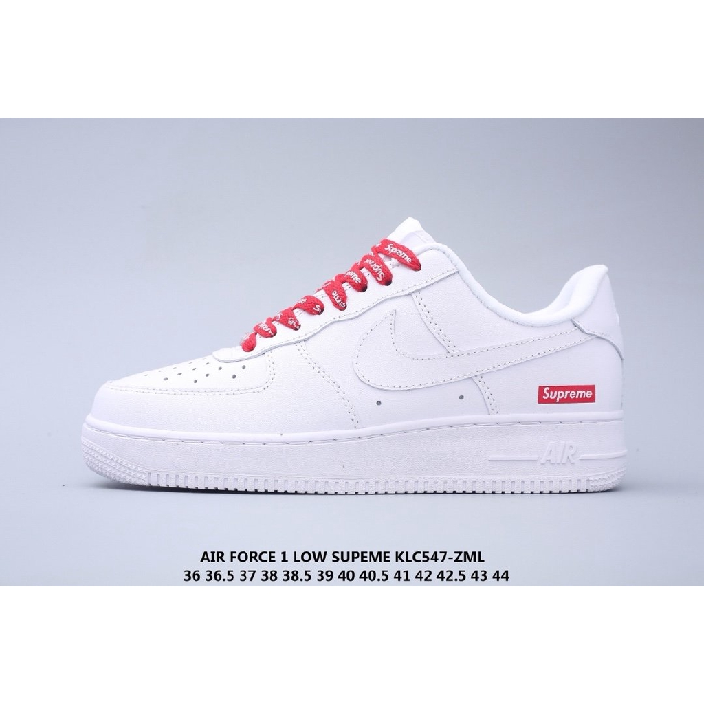 radersi infastidire figlio  Supreme x Nike Air Force 1 '07 Air Force One Low-Top Joint Sports Casual  Shoes | Shopee Philippines