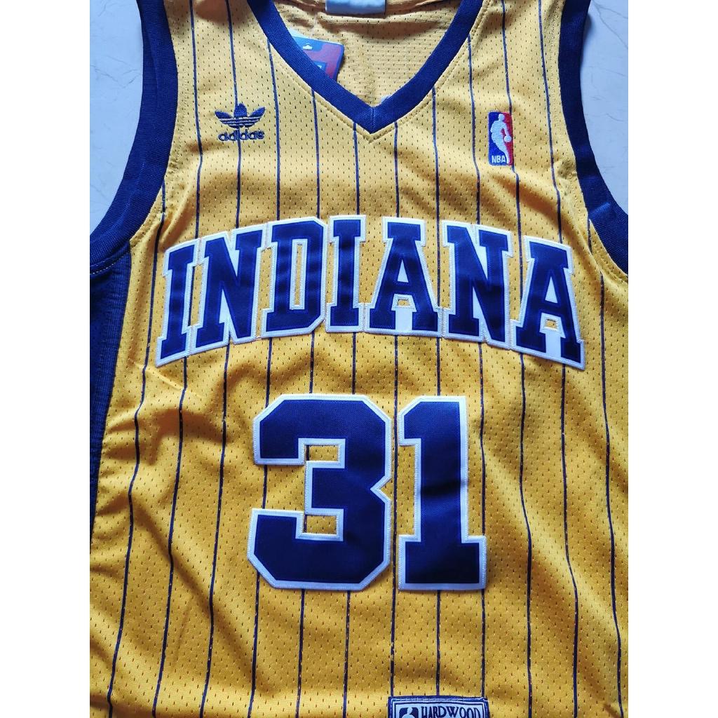 Indiana Pacers Legendary Superstar # 31 Reggie Miller Maglie Senza Maniche Classiche retr/ò T-Shirt Competizione Uniforme GSPURS Maglia da Basket da Uomo