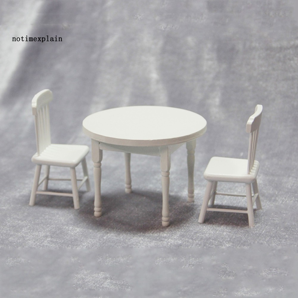 Name 1 12 Miniature Doll House Dining Table Chairs Kitchen Furniture Decor Kids Toy Shopee Philippines