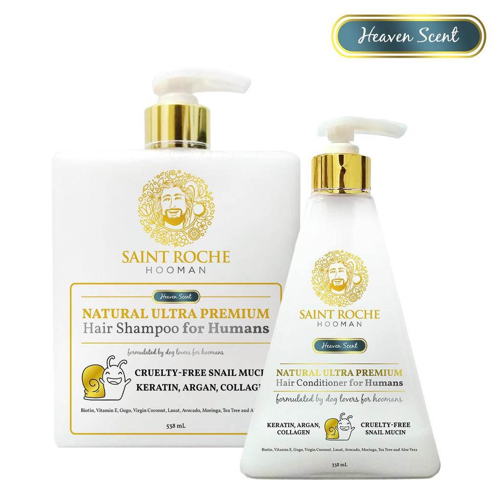 Saint Roche Hooman BUNDLE Shampoo 538ml & Conditioner 338ml Heaven Scent