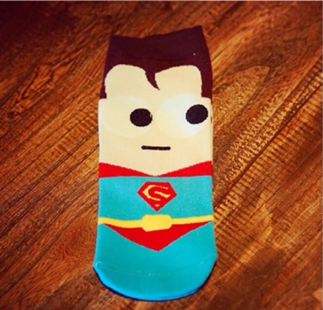 #1 Superhero w/ Avengers Cartoon Character Socks