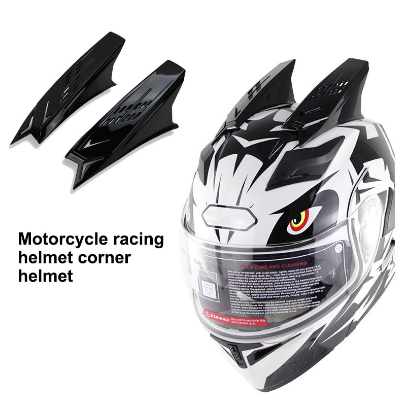 Motorcycle 1 Pair Unisex Helmet Mohawk Horns Accessories For Racing Dirt Bike