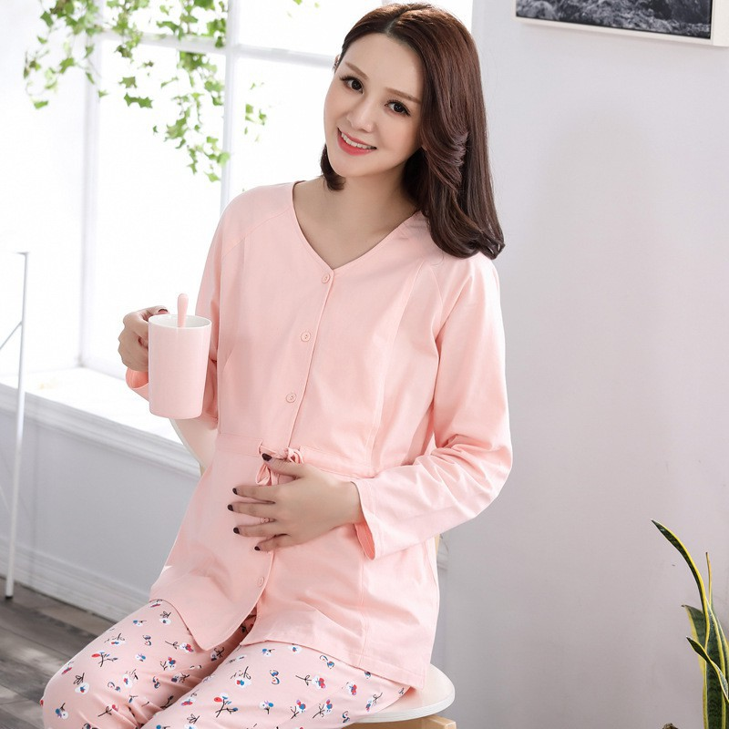 4ae936080d0d9 Autumn and winter pregnant cotton month clothing prenatal and postnatal  nursing
