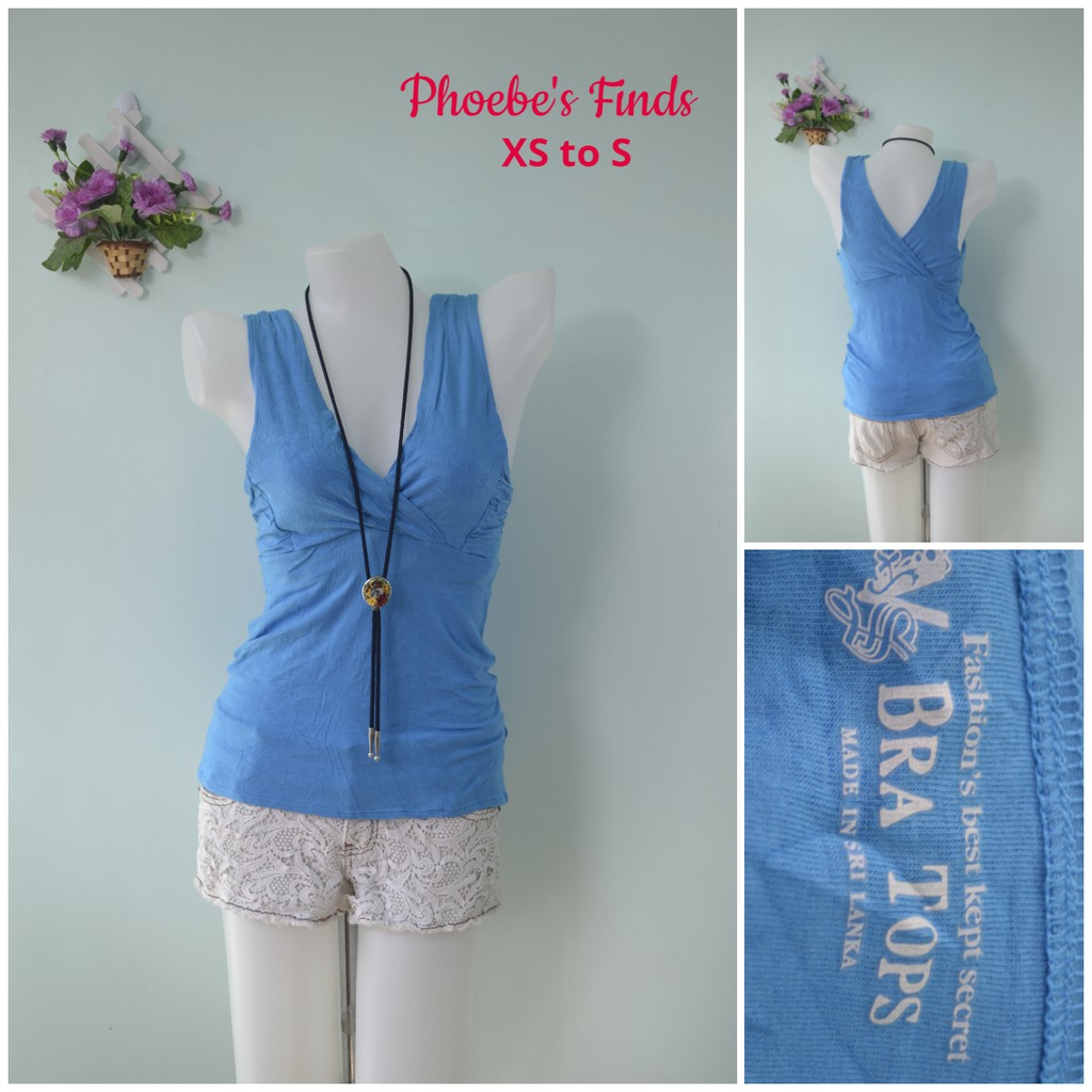 a7a435259f83f Preloved Ladies Shirt-Blue (Victoria's Secret)