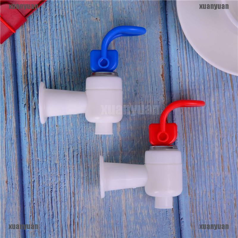 2Pc Universal Push Type Plastic Replacement Water Dispenser Tap Faucet White Red