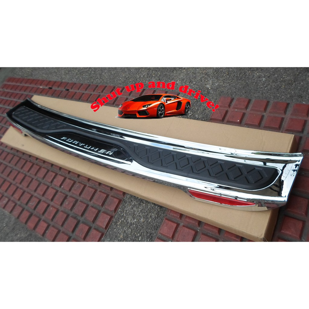 Rear Bumper Guard For Toyota Fortuner 2016 2018 Shopee Philippines Step Cover Stainless Mobilio