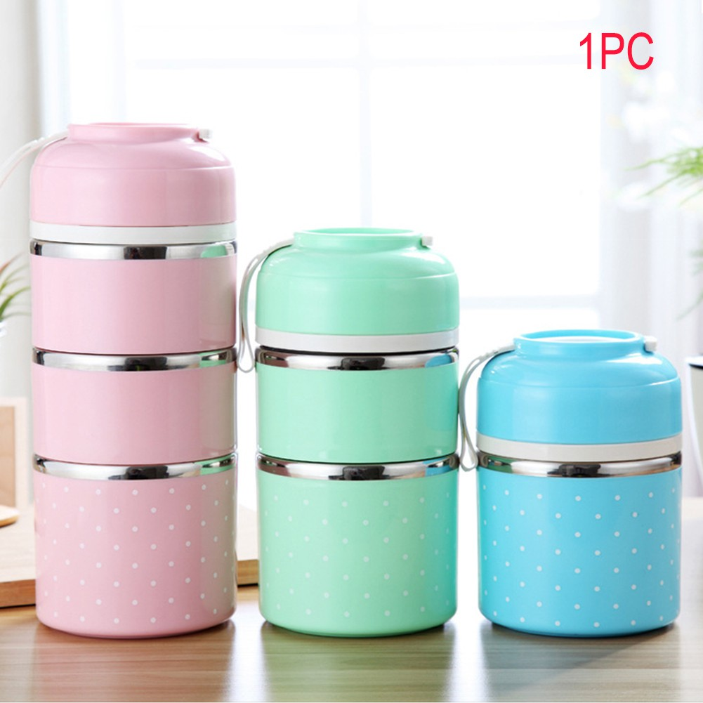 d9b8dd8df22 Cute Portable Stainless Steel Bento Box Leak-Proof Thermal Lunch Box ...